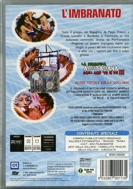 L' imbranato di Pier Francesco Pingitore - DVD - 2
