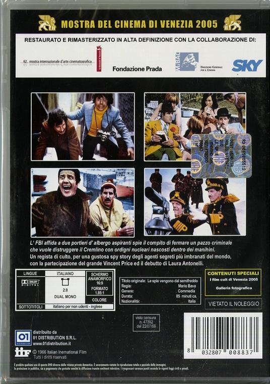 Le spie vengono dal semi freddo di Mario Bava - DVD - 2