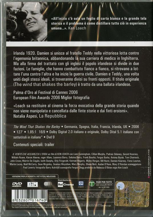 Il vento che accarezza l'erba di Ken Loach - DVD - 2