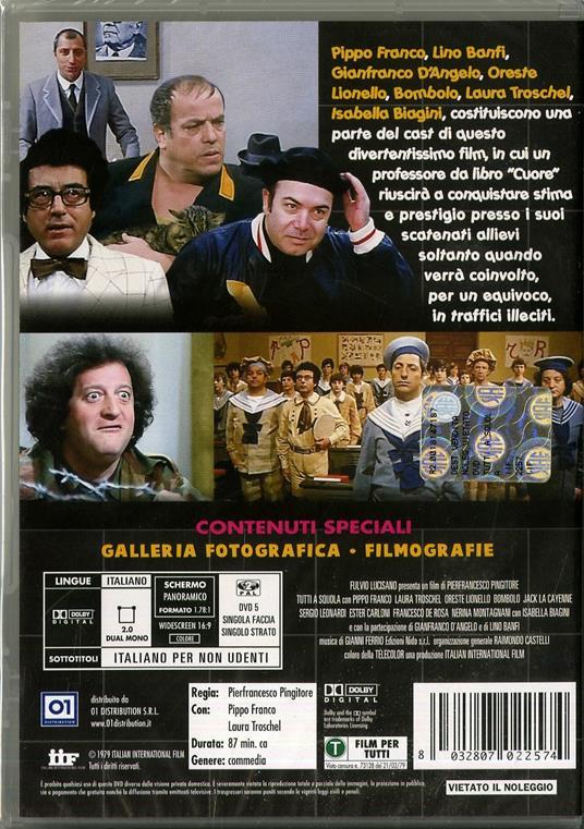 Tutti a squola di Pier Francesco Pingitore - DVD - 2