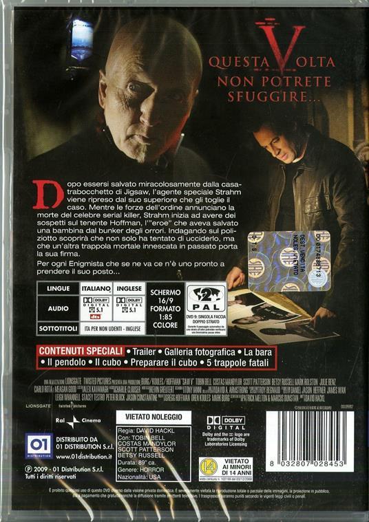 Saw V di David Hackl - DVD - 2