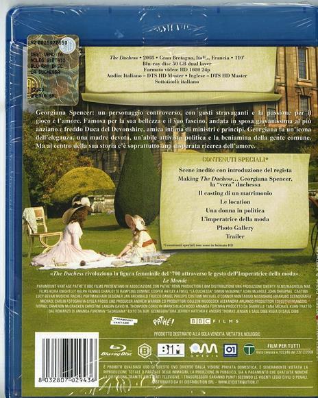 La duchessa di Saul Dibb - Blu-ray - 2