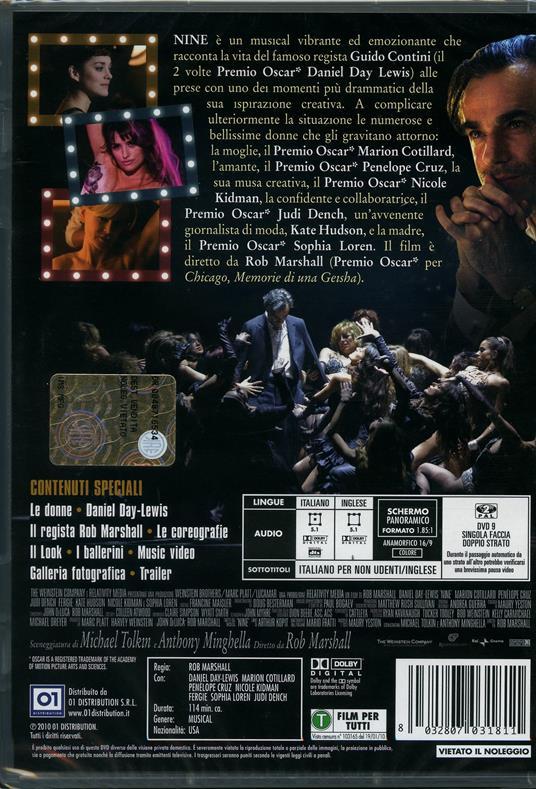Nine di Rob Marshall - DVD - 2