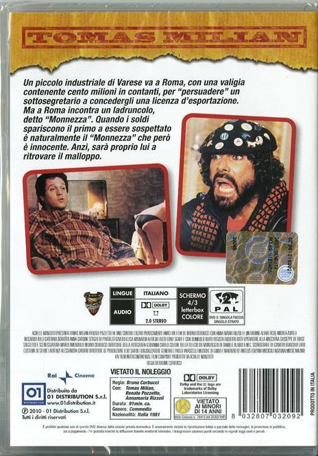Uno contro l'altro praticamente amici di Bruno Corbucci - DVD - 2