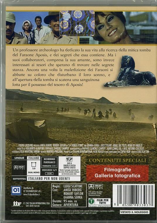 La sfinge d'oro di Luigi Scattini - DVD - 2
