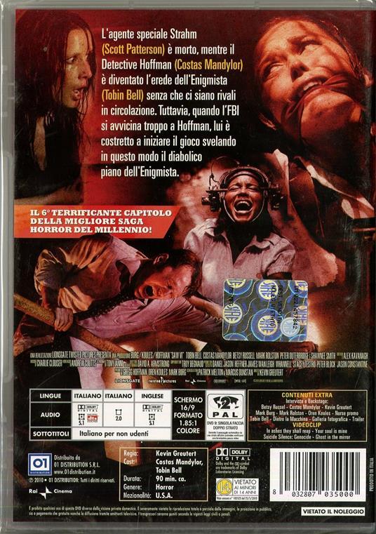 Saw VI di Kevin Greutert - DVD - 2