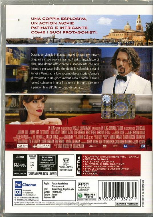 The Tourist di Florian Henckel von Donnersmarck - DVD - 2