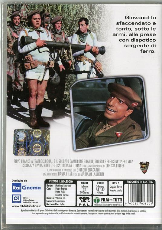 Patroclo e il soldato Camillone, grande, grosso e frescone di Mariano Laurenti - DVD - 2