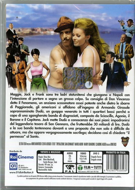 Operazione San Gennaro di Dino Risi - DVD - 2