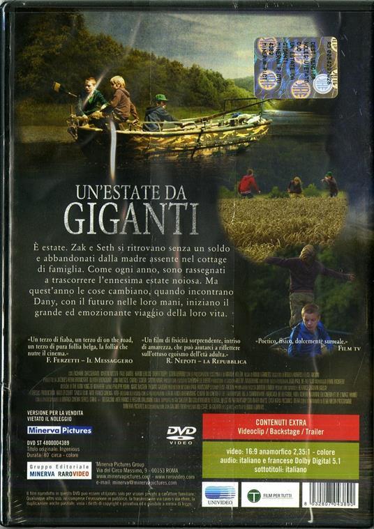 Un' estate da giganti di Bouli Lanners - DVD - 2