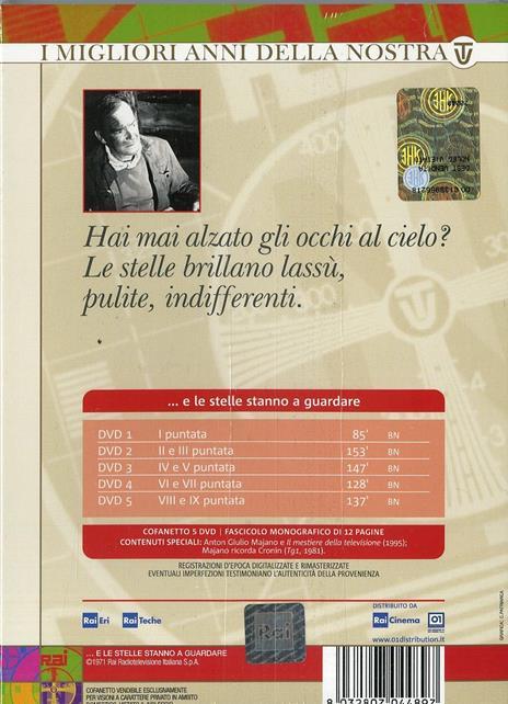 E le stelle stanno a guardare (5 DVD) di Anton Giulio Majano - DVD - 2