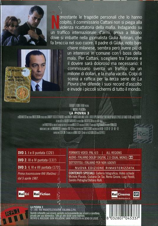 La piovra 3 (3 DVD) di Luigi Perelli - DVD - 2