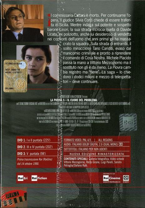 La piovra 5 (3 DVD) di Luigi Perelli - DVD - 2