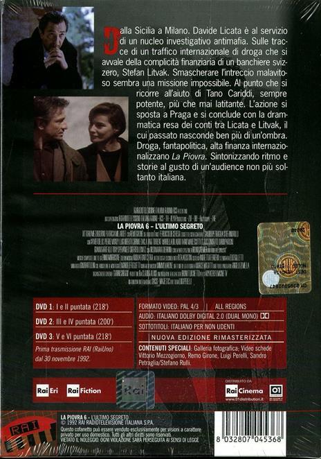 La piovra 6. L'ultimo segreto (3 DVD) di Luigi Perelli - DVD - 2