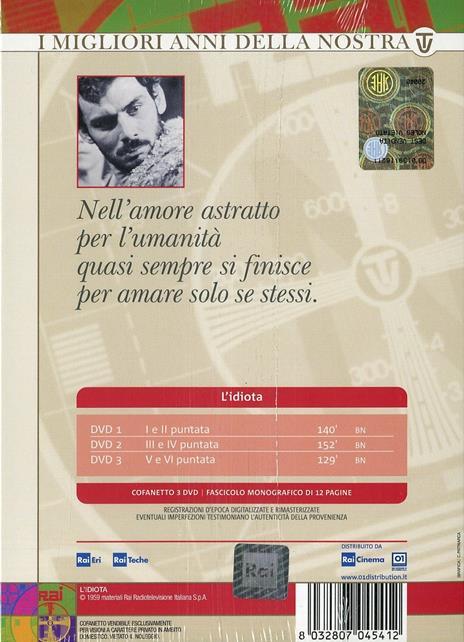 L' idiota (3 DVD) di Giacomo Vaccari - DVD - 2