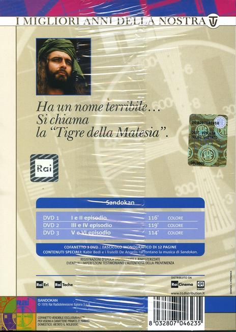 Sandokan (3 DVD) di Sergio Sollima - DVD - 2