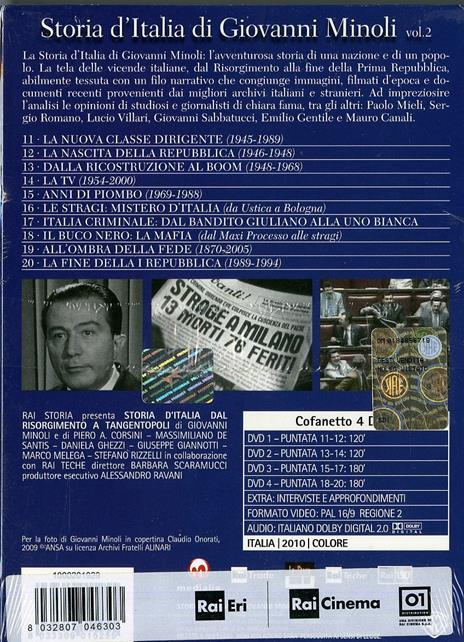 Storia d'Italia di Giovanni Minoli. Vol. 2 (4 DVD) - DVD - 2