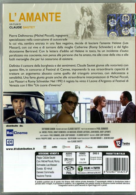 L' amante di Claude Sautet - DVD - 2