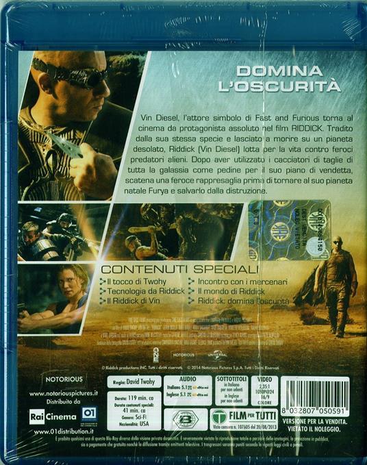 Riddick di David N. Twohy - Blu-ray - 2