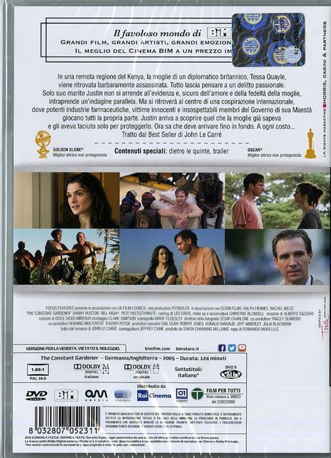 The Constant Gardener. La cospirazione di Fernando Meirelles - DVD - 2