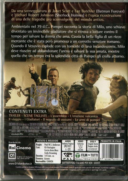 Pompei di Paul W. S. Anderson - DVD - 2