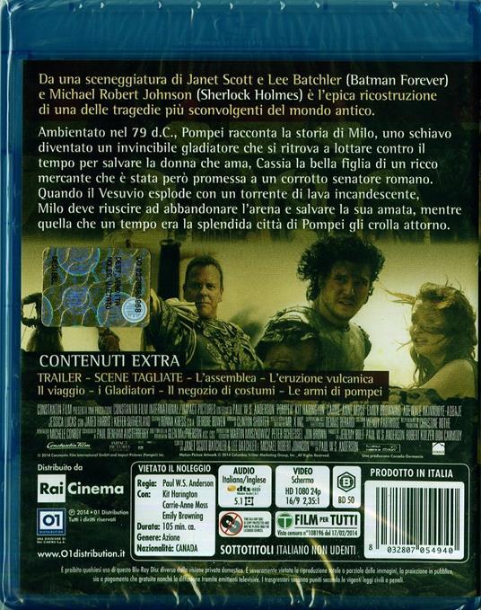 Pompei di Paul W. S. Anderson - Blu-ray - 2