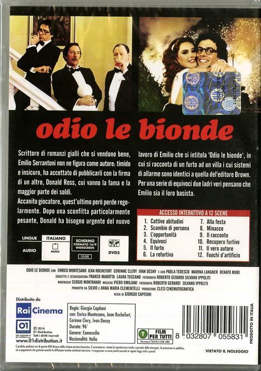 Odio le bionde di Giorgio Capitani - DVD - 2