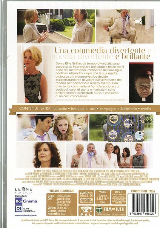 The Big Wedding (DVD) di Justin Zackham - DVD - 2