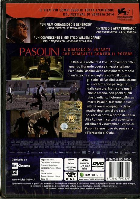 Pasolini di Abel Ferrara - DVD - 2