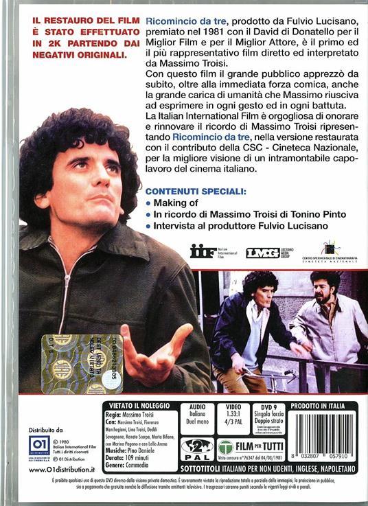 Ricomincio da tre di Massimo Troisi - DVD - 2