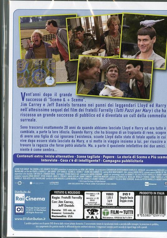 Scemo & + scemo 2 di Peter Farrelly,Bobby Farrelly - DVD - 2