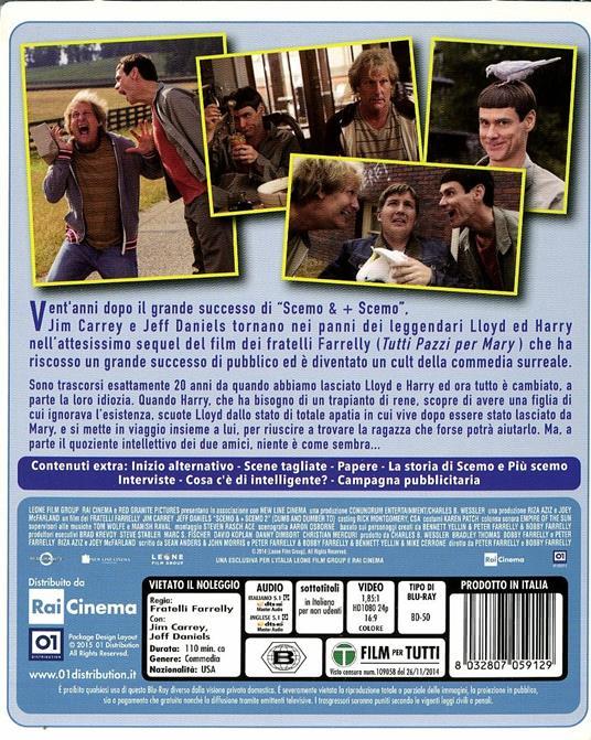 Scemo & + scemo 2 di Peter Farrelly,Bobby Farrelly - Blu-ray - 2