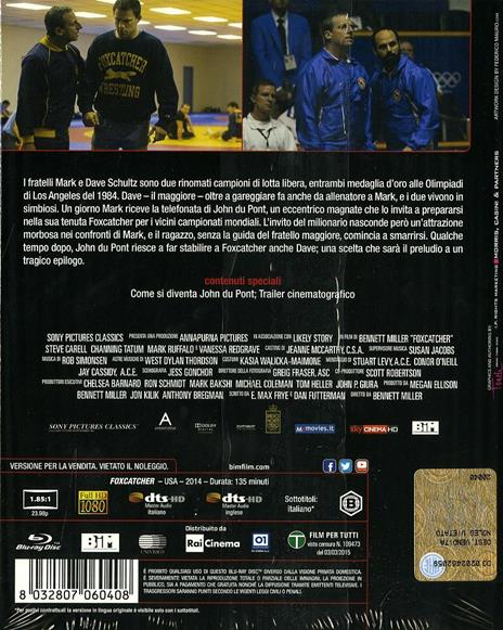 Foxcatcher. Una storia americana di Bennett Miller - Blu-ray - 2