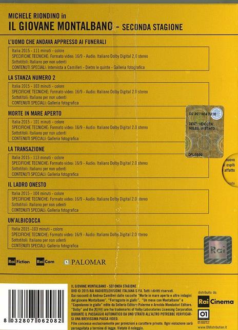 Il giovane Montalbano. Stagione 2 (6 DVD) di Gianluca Maria Tavarelli - DVD - 3