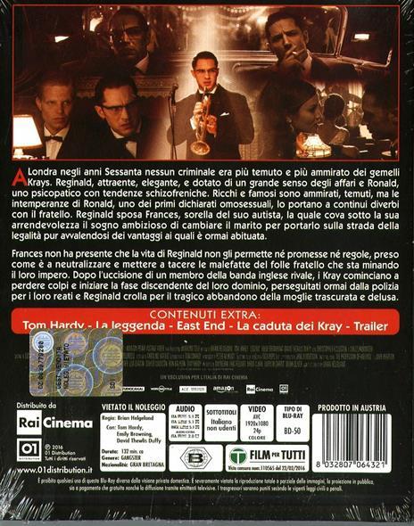 Legend di Brian Helgeland - Blu-ray - 2