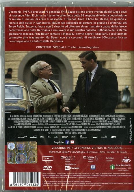 Lo Stato contro Fritz Bauer di Lars Kraume - DVD - 2