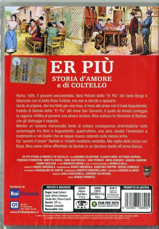 Er Più, storia d'amore e di coltello di Sergio Corbucci - DVD - 2