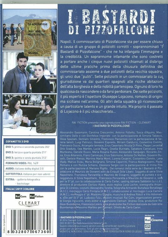 I bastardi di Pizzofalcone. Serie TV ita (3 DVD) di Carlo Carlei - DVD - 2