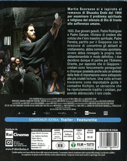 Silence (Blu-ray) di Martin Scorsese - Blu-ray - 2