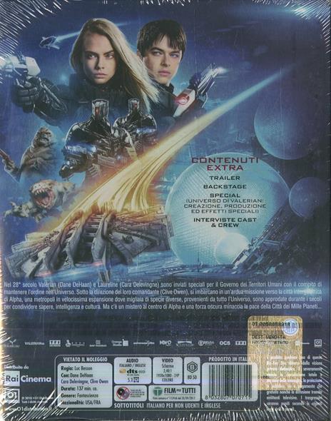 Valerian e la città dei mille pianeti. Con Steelbook (Blu-ray) di Luc Besson - Blu-ray - 10