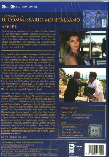Il commissario Montalbano. Amore (DVD) di Alberto Sironi - DVD - 2