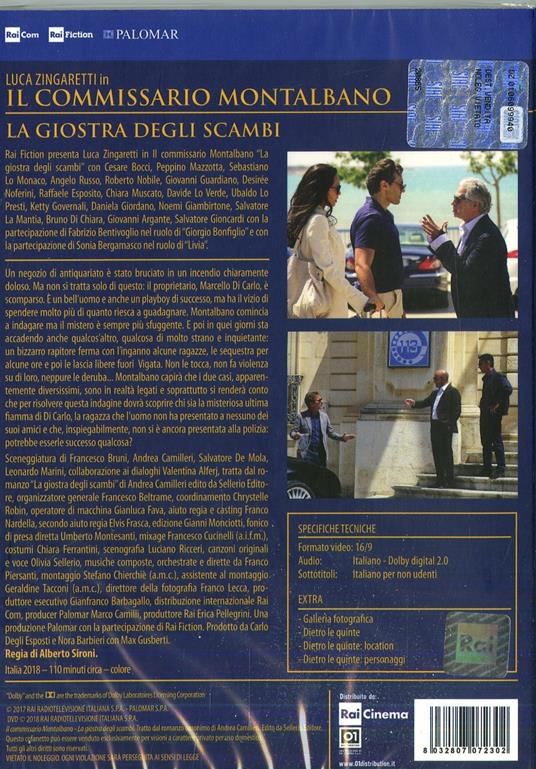 Il commissario Montalbano. La giostra degli scambi (DVD) di Alberto Sironi - DVD - 2