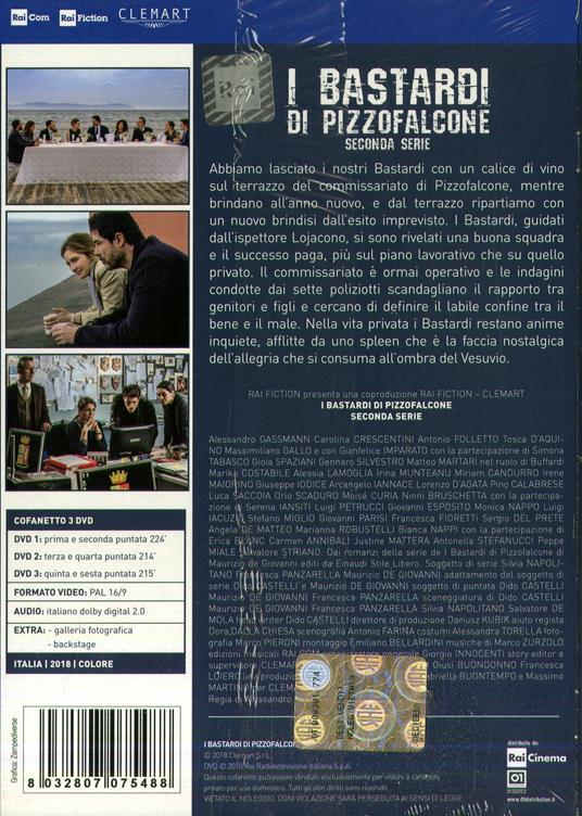 I bastardi di Pizzofalcone. Stagione 2. Serie TV ita (3 DVD) di Alessandro D'Alatri - DVD - 2