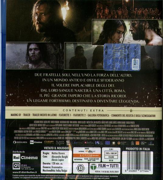 Il primo re (Blu-ray) di Matteo Rovere - Blu-ray - 2