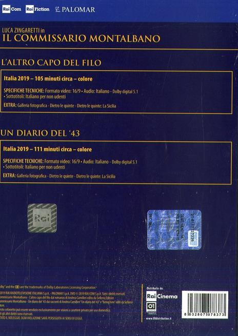 Il commissario Montalbano. Stagione 2019 vol.10. Serie TV ita (2 DVD) di Alberto Sironi - DVD - 2
