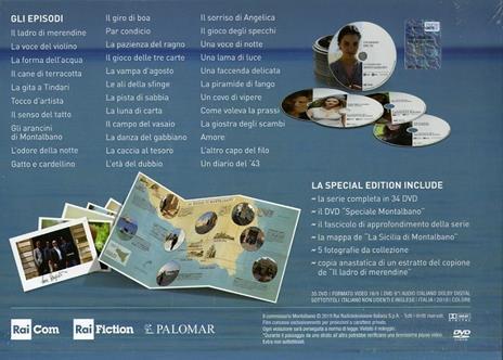 Il commissario Montalbano. Cofanetto Limited Edition. Stagioni complete 1-13 (34 DVD) di Alberto Sironi - DVD  - 4