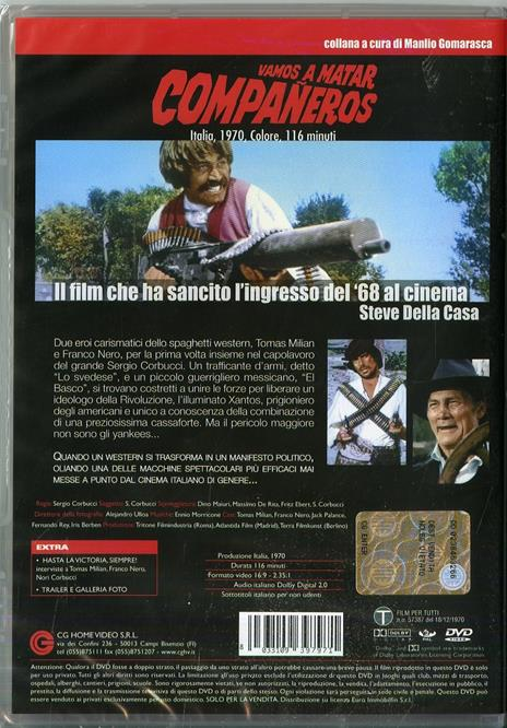 Vamos a matar compañeros di Sergio Corbucci - DVD - 2