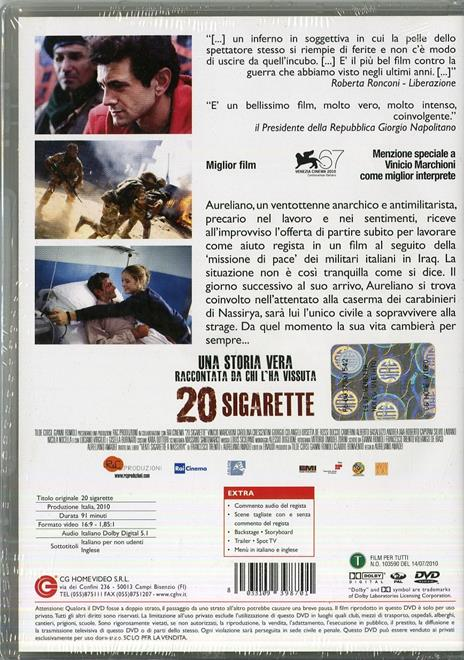 20 sigarette di Aureliano Amadei - DVD - 2