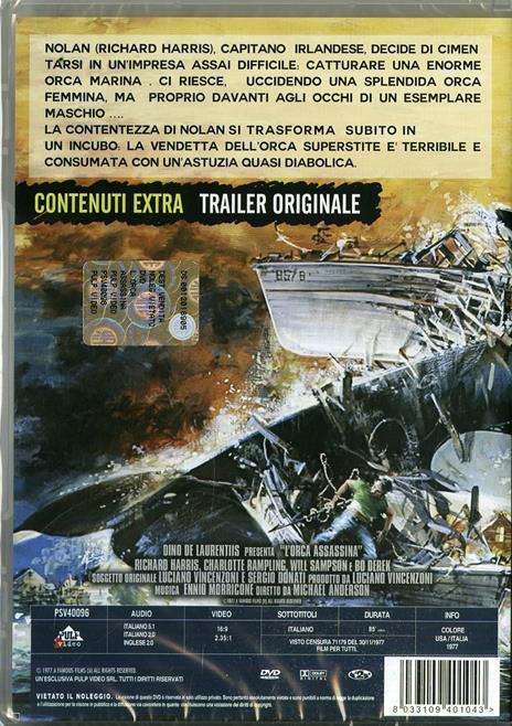L' orca assassina di Michael Anderson - DVD - 2