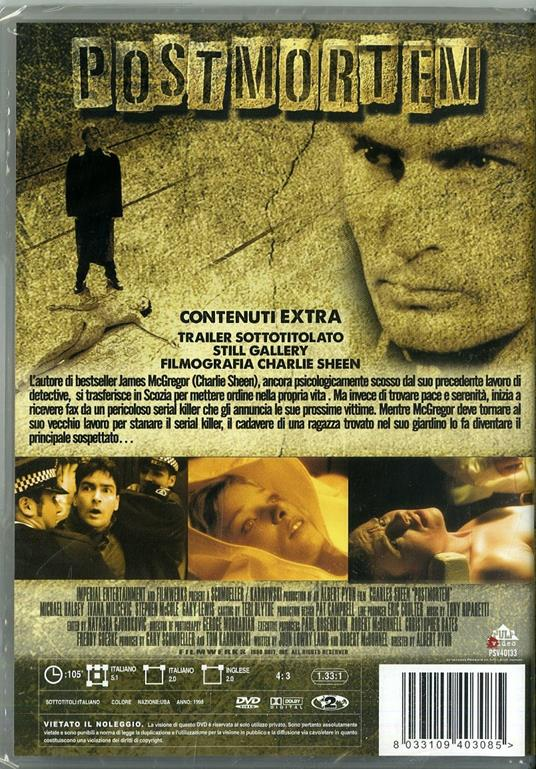 Postmortem. Indagine ad alto rischio di Albert Pyun - DVD - 2